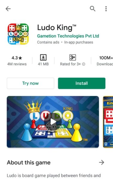 Ludo King indoor game to play in lockdown
