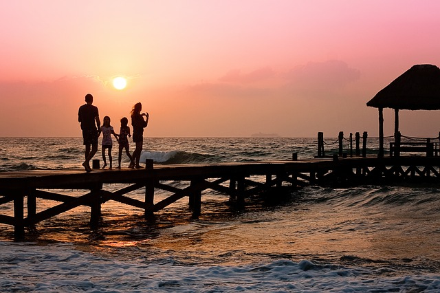 Family Sunset Pier